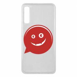 Чехол для Samsung A7 2018 Red smile