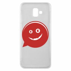 Чехол для Samsung J6 Plus 2018 Red smile