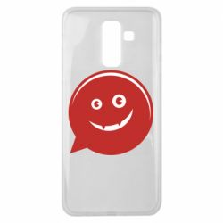 Чехол для Samsung J8 2018 Red smile