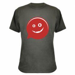 Камуфляжная футболка Red smile