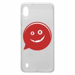 Чехол для Samsung A10 Red smile