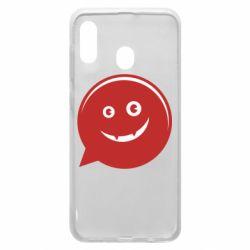 Чехол для Samsung A20 Red smile
