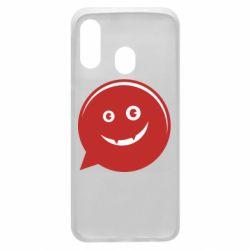 Чехол для Samsung A40 Red smile