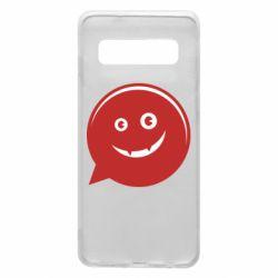 Чехол для Samsung S10 Red smile