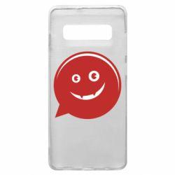 Чехол для Samsung S10+ Red smile