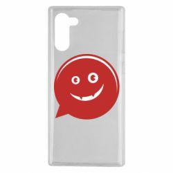Чехол для Samsung Note 10 Red smile