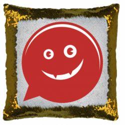 Подушка-хамелеон Red smile