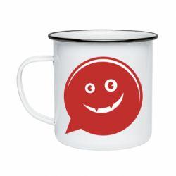 Кружка эмалированная Red smile