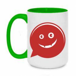 Кружка двухцветная 420ml Red smile