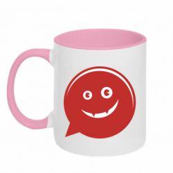 Кружка двухцветная 320ml Red smile