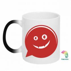 Кружка-хамелеон Red smile