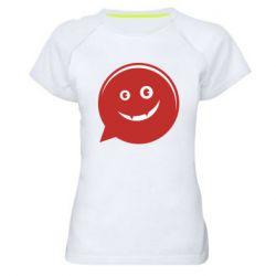 Женская спортивная футболка Red smile