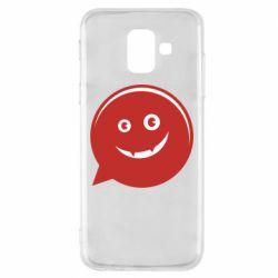 Чехол для Samsung A6 2018 Red smile