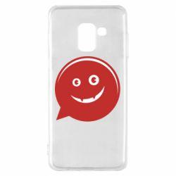 Чехол для Samsung A8 2018 Red smile