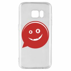 Чехол для Samsung S7 Red smile