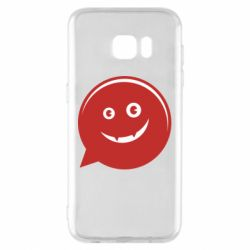 Чехол для Samsung S7 EDGE Red smile