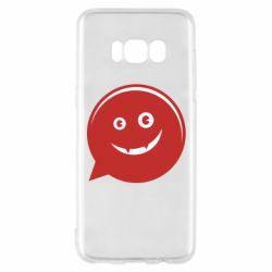 Чехол для Samsung S8 Red smile