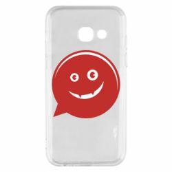 Чехол для Samsung A3 2017 Red smile