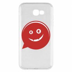 Чехол для Samsung A7 2017 Red smile