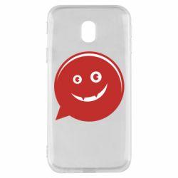 Чехол для Samsung J3 2017 Red smile