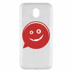 Чехол для Samsung J5 2017 Red smile
