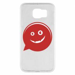 Чехол для Samsung S6 Red smile