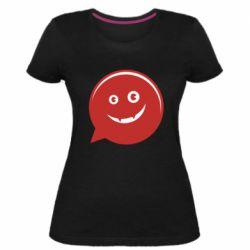 Женская стрейчевая футболка Red smile