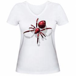 Жіноча футболка з V-подібним вирізом Red spider