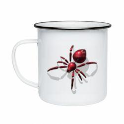 Кружка емальована Red spider