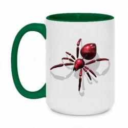 Кружка двоколірна 420ml Red spider