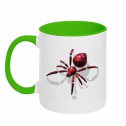 Кружка двоколірна 320ml Red spider