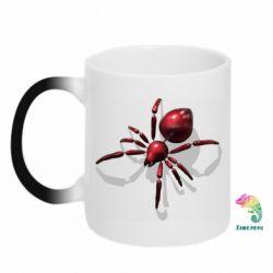 Кружка-хамелеон Red spider