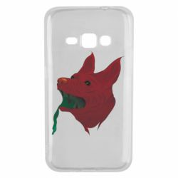 Чехол для Samsung J1 2016 Red zombie dog