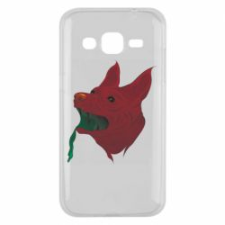 Чехол для Samsung J2 2015 Red zombie dog