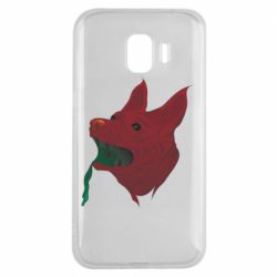 Чехол для Samsung J2 2018 Red zombie dog