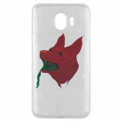 Чехол для Samsung J4 Red zombie dog