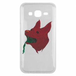 Чехол для Samsung J5 2015 Red zombie dog