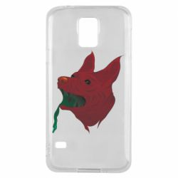 Чехол для Samsung S5 Red zombie dog