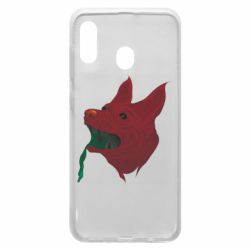 Чехол для Samsung A20 Red zombie dog