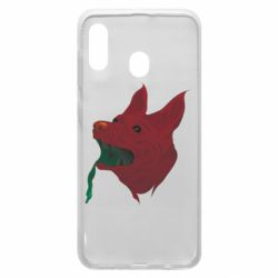 Чехол для Samsung A30 Red zombie dog