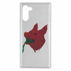 Чехол для Samsung Note 10 Red zombie dog