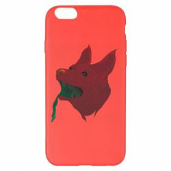 Чехол для iPhone 6 Plus/6S Plus Red zombie dog