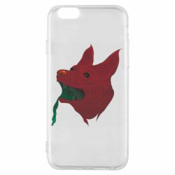 Чехол для iPhone 6/6S Red zombie dog