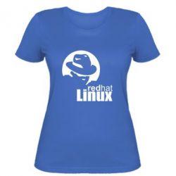 Женская футболка Redhat Linux - FatLine