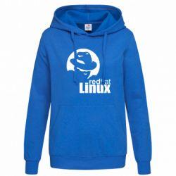 Женская толстовка Redhat Linux - FatLine
