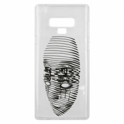 Чехол для Samsung Note 9 Reflected face in the water