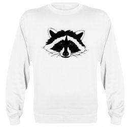 Реглан (світшот) Cute raccoon face
