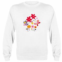 Реглан (свитшот) Flowers and Butterflies