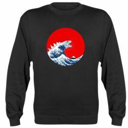 Реглан (світшот) Godzilla Wave