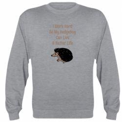 Реглан (свитшот) Hedgehog with text